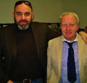 Stefano Loparco e Gian Paolo Pelisini, critico cinematografico del Messaggero Veneto