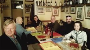 Con Christine (figlia di Jacopetti) e altri amici, Lucca Film Festival 2016